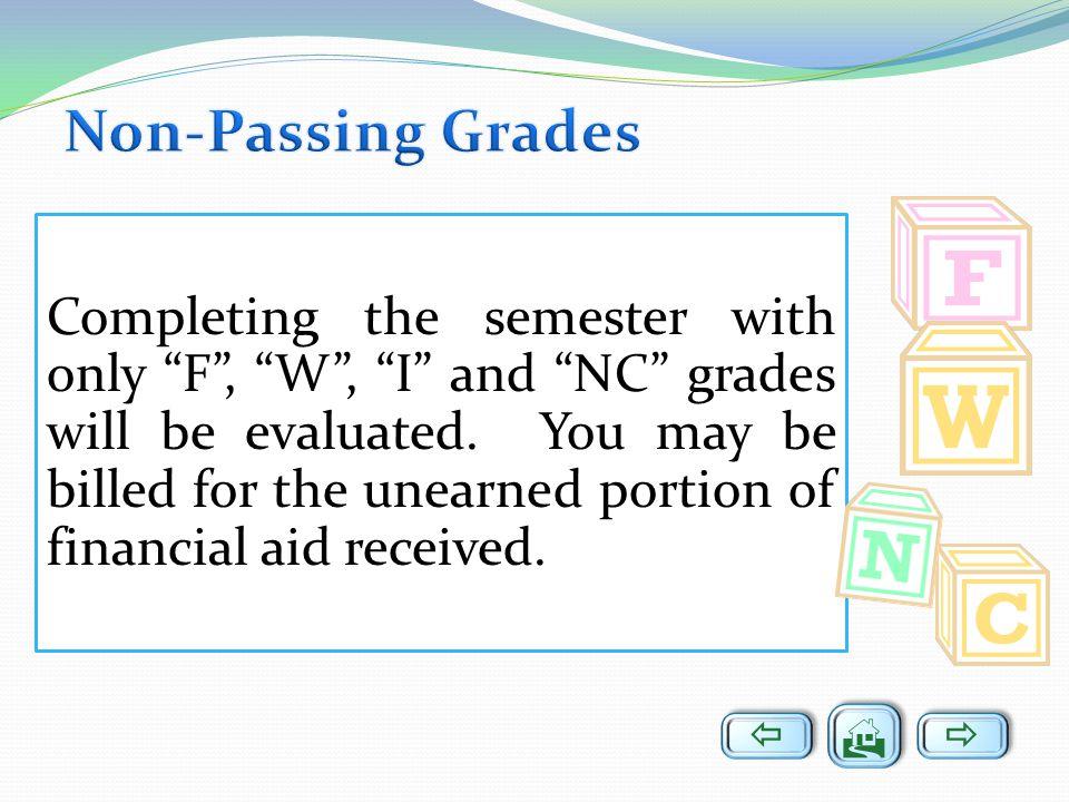 Non-Passing Grades