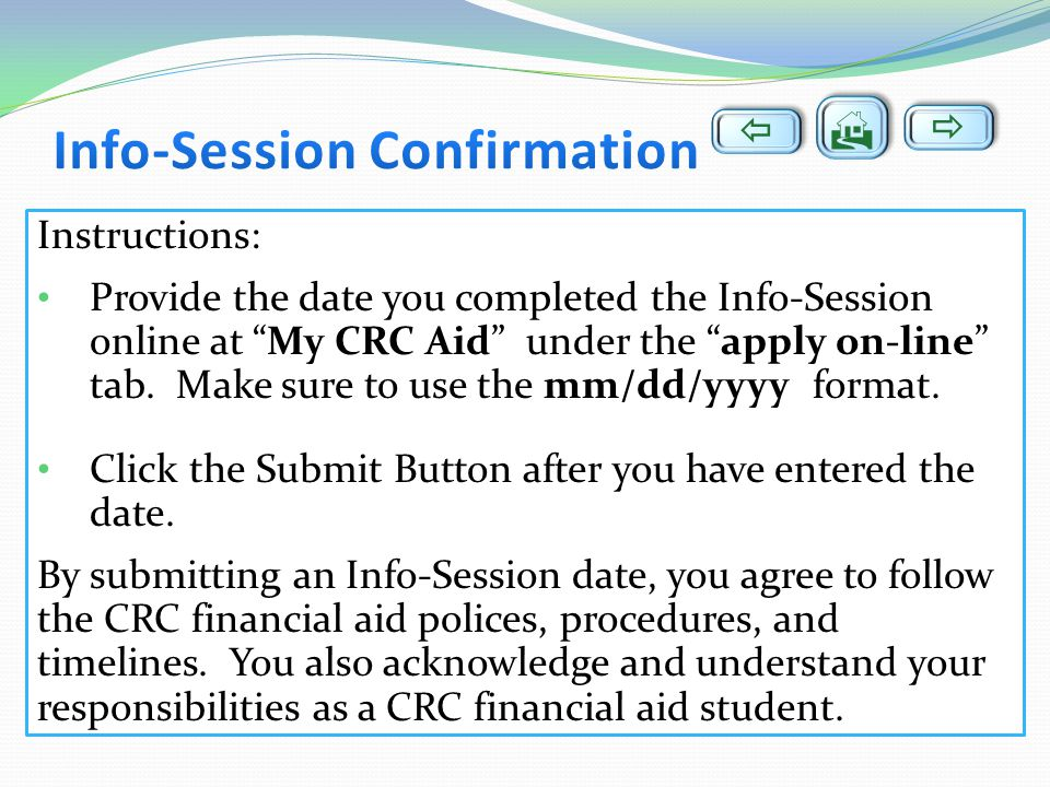 Info-Session Confirmation