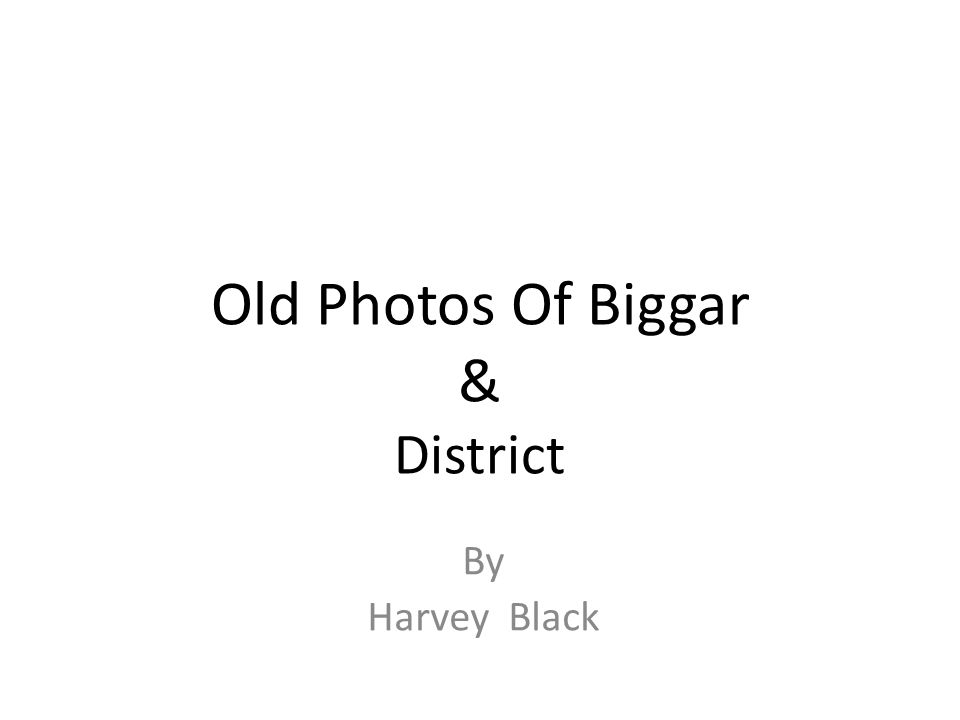 Old Photos Of Biggar & District