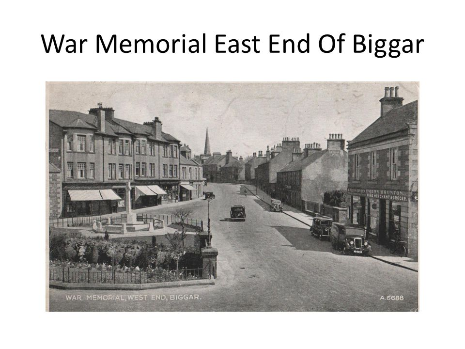 War Memorial East End Of Biggar