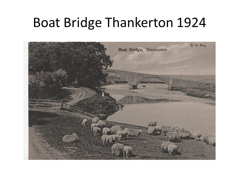Boat Bridge Thankerton 1924