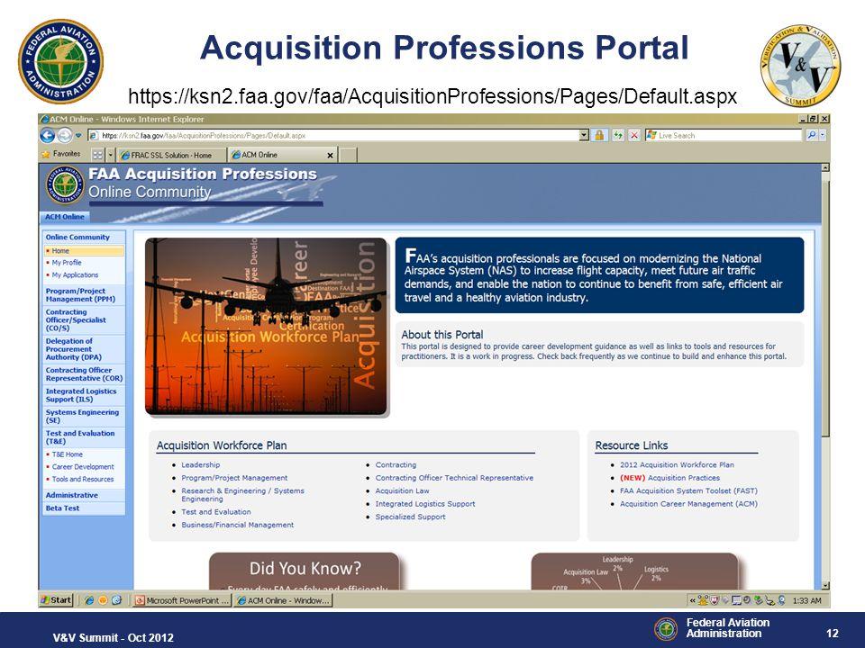 Acquisition Professions Portal