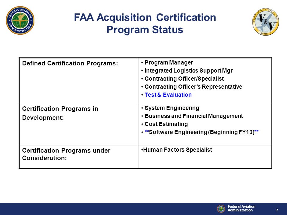 FAA Acquisition Certification