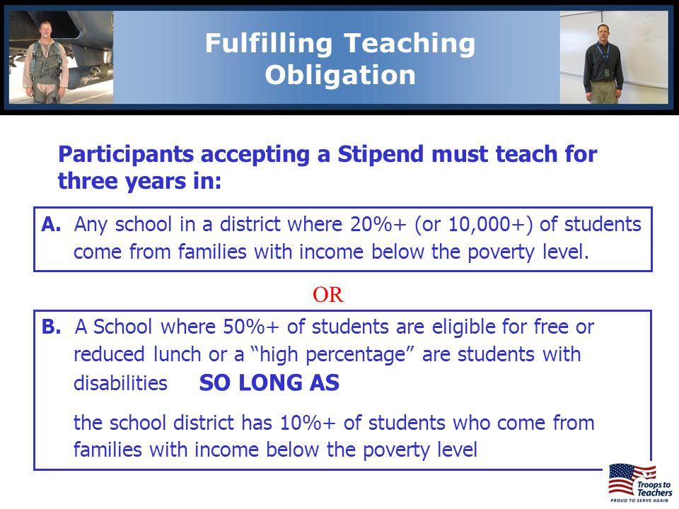 Fulfilling Teaching Obligation
