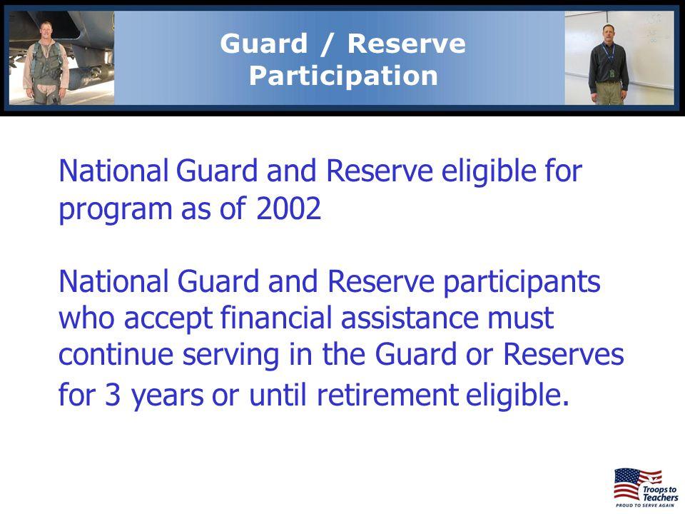 Guard / Reserve Participation