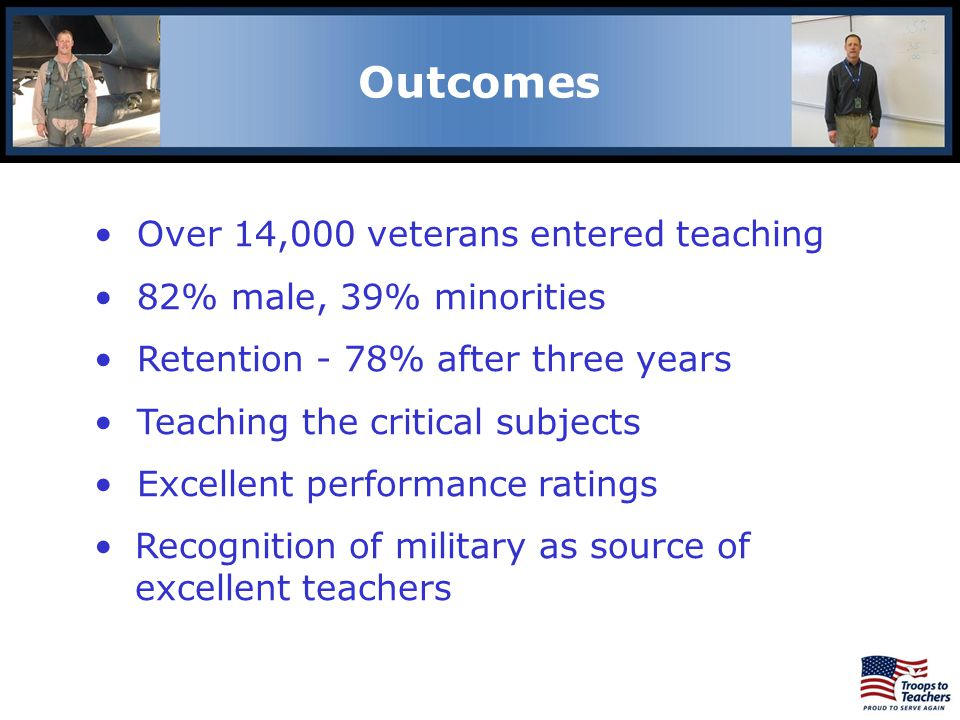 Lewis and Clark Region Outcomes Over 14,000 veterans entered teaching