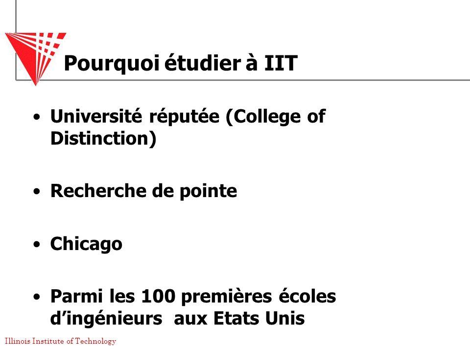Pourquoi étudier à IIT Université réputée (College of Distinction)
