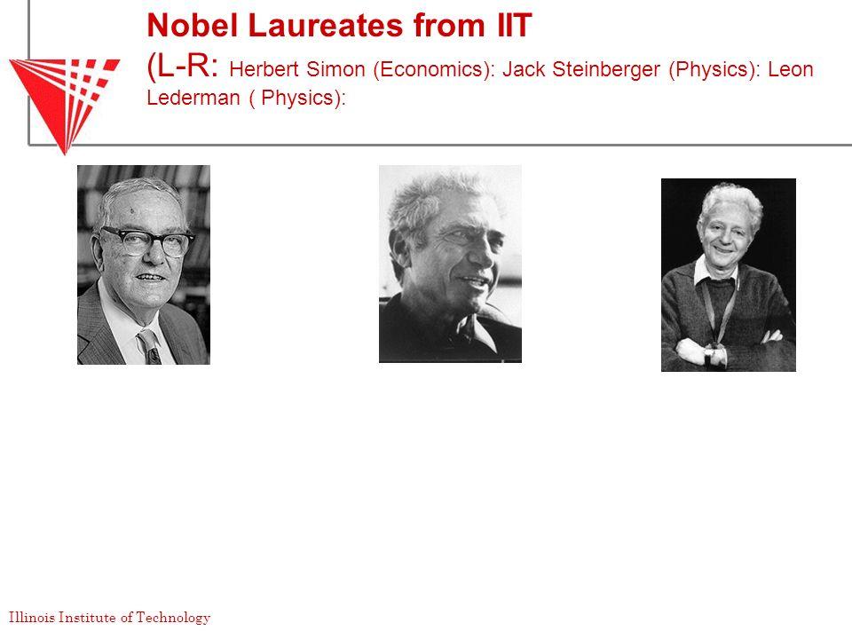 Nobel Laureates from IIT