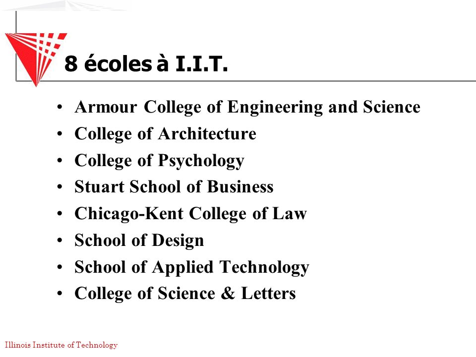 8 écoles à I.I.T. Armour College of Engineering and Science