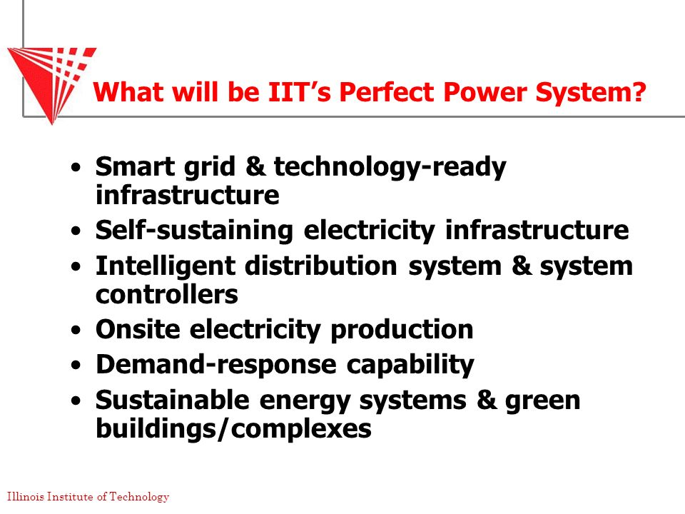 What will be IIT's Perfect Power System