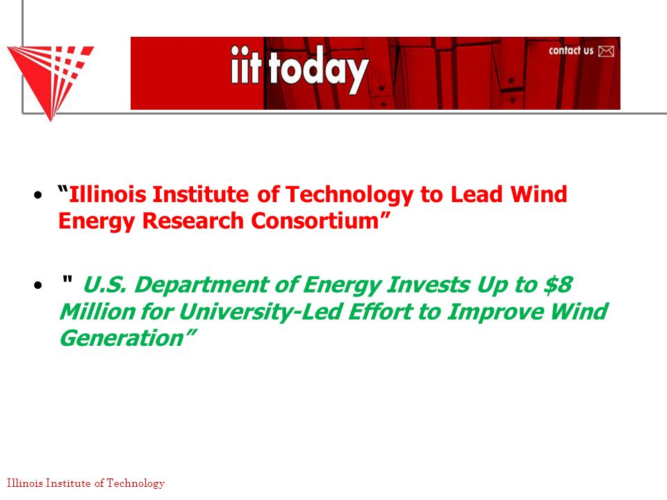 Illinois Institute of Technology to Lead Wind Energy Research Consortium