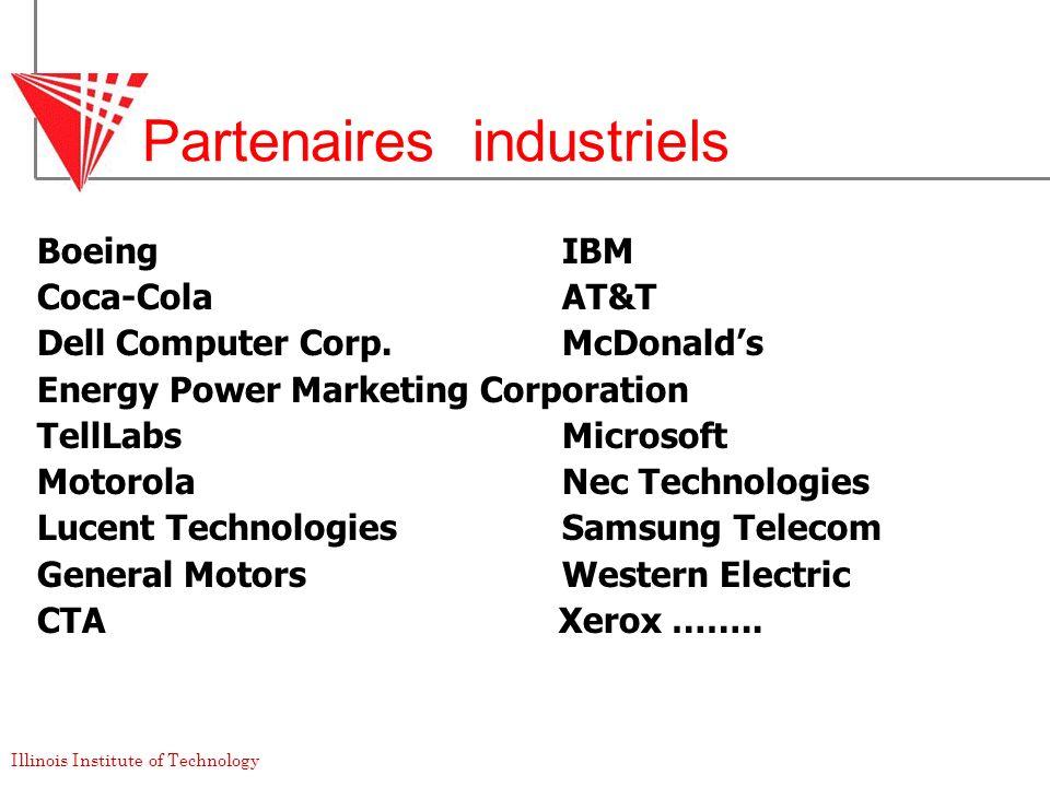Partenaires industriels