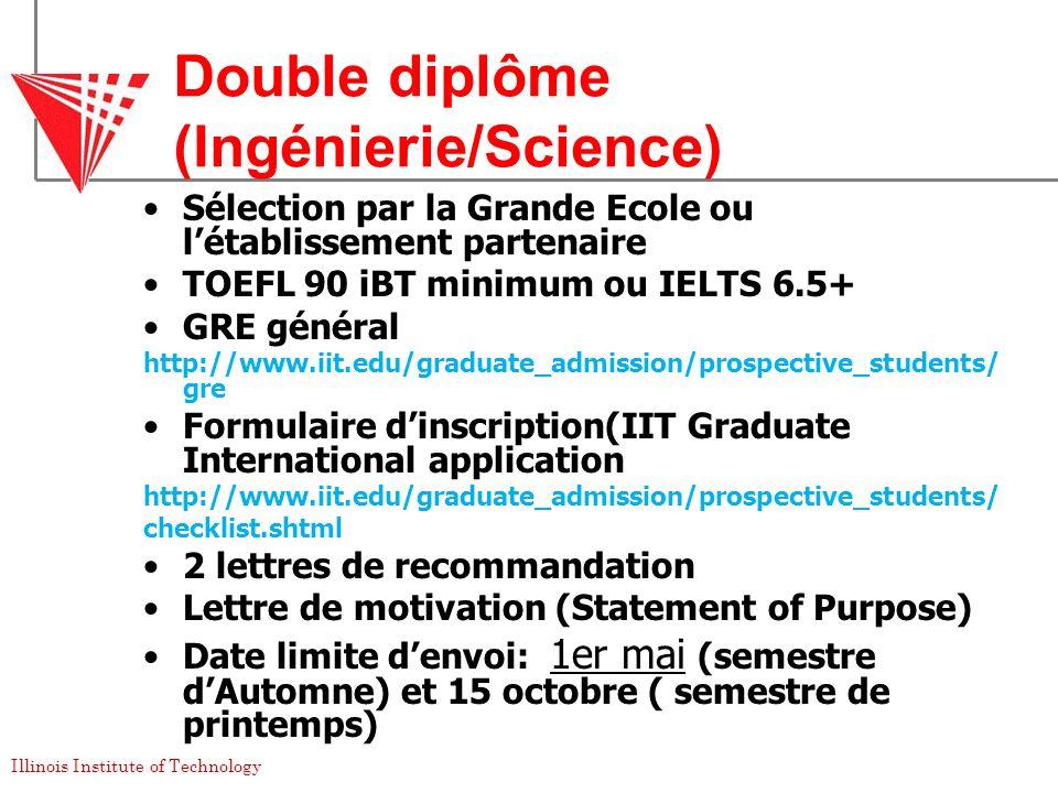 Double diplôme (Ingénierie/Science)