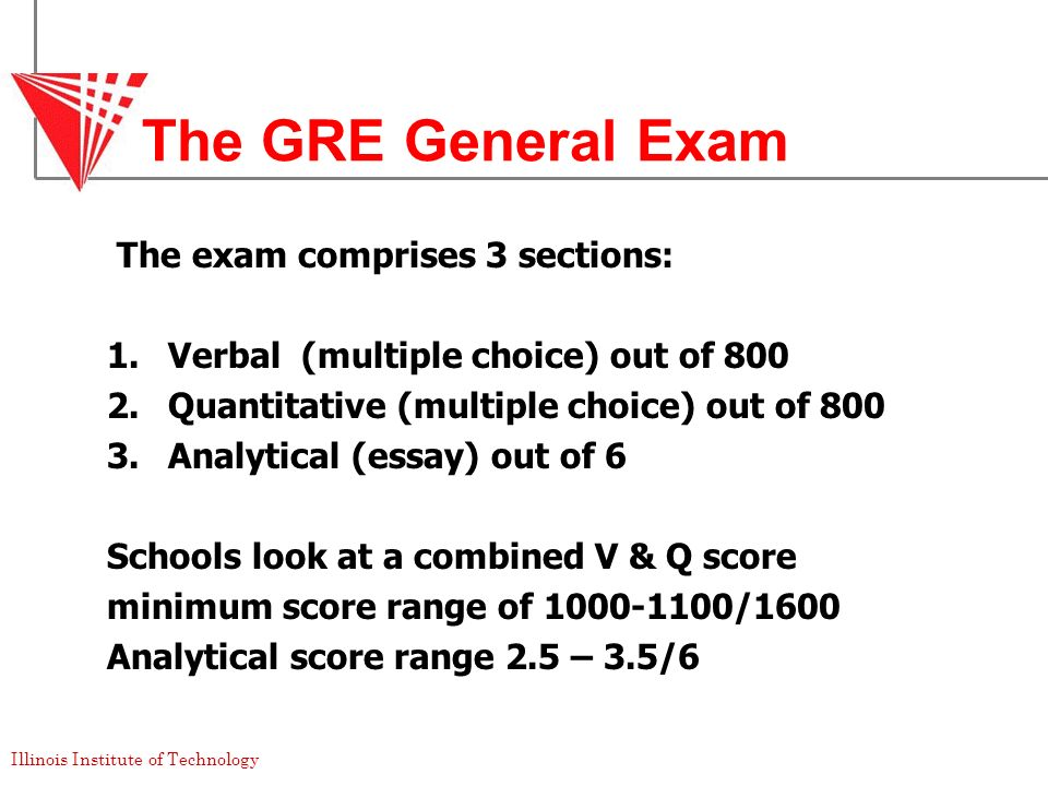 The GRE General Exam The exam comprises 3 sections: