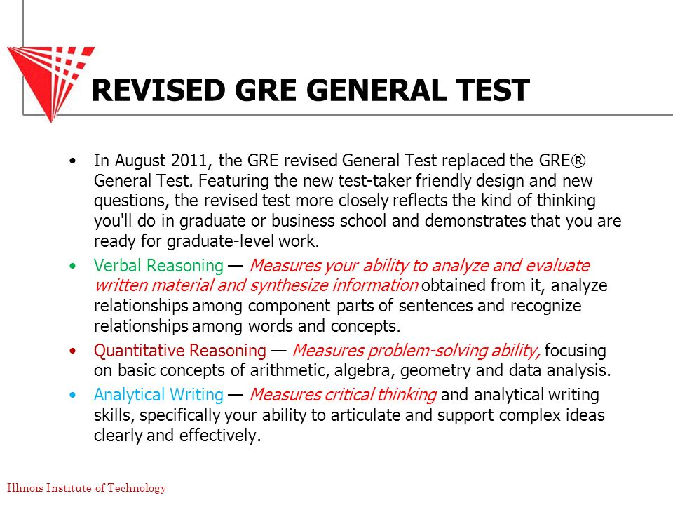 REVISED GRE GENERAL TEST