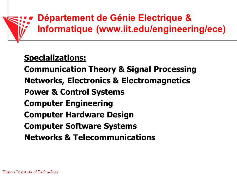 Département de Génie Electrique & Informatique (www. iit