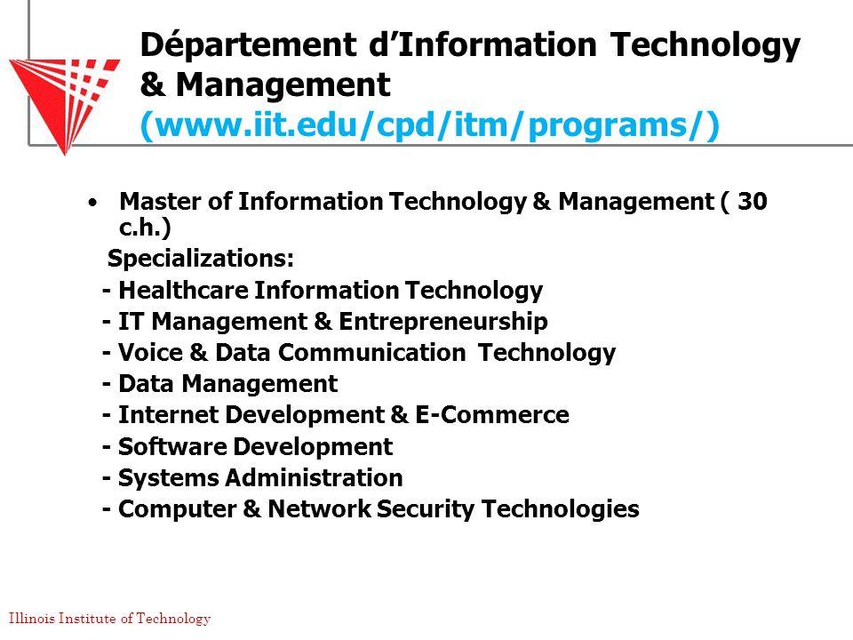 Département d'Information Technology & Management (www. iit