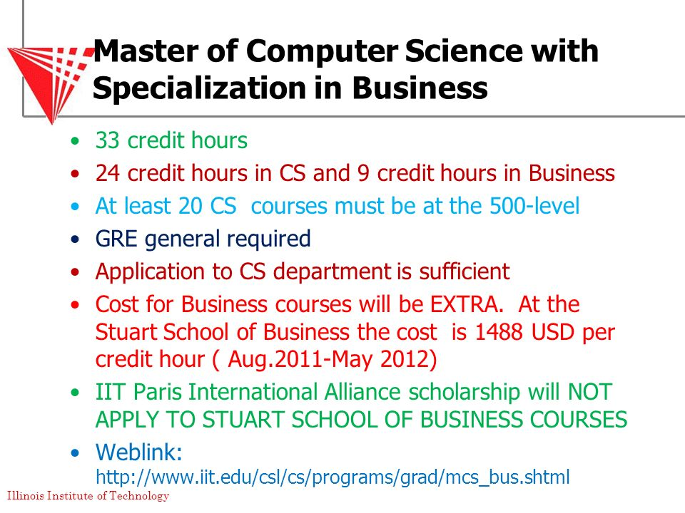 Master of Computer Science with Specialization in Business