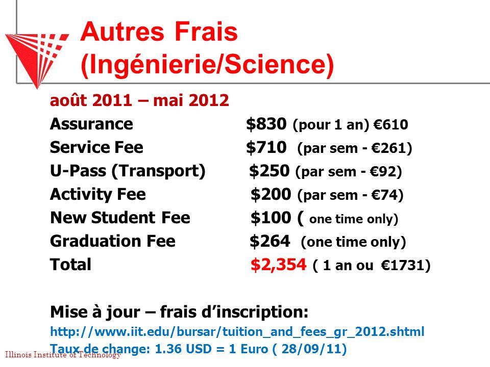 Autres Frais (Ingénierie/Science)