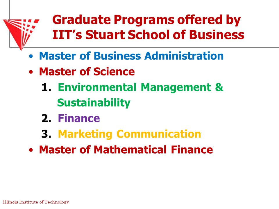 Graduate Programs offered by IIT's Stuart School of Business