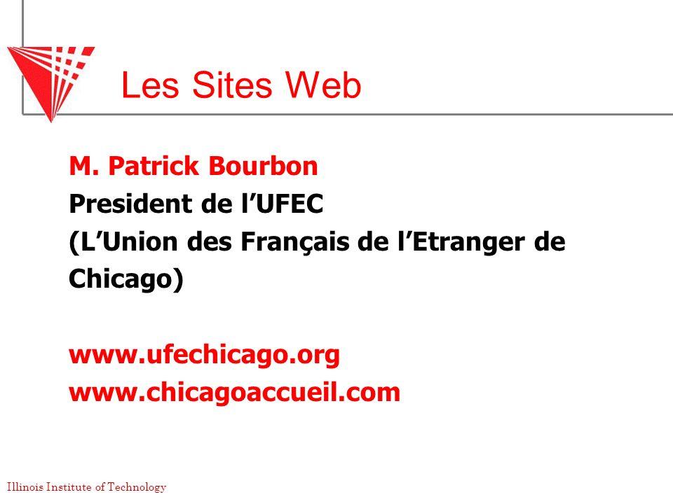 Les Sites Web M. Patrick Bourbon President de l'UFEC