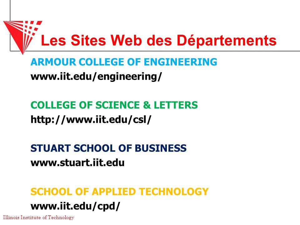 Les Sites Web des Départements