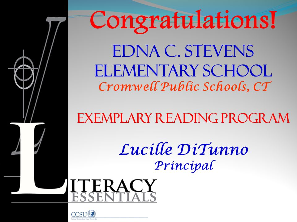 Cromwell Public Schools, CT Exemplary Reading Program