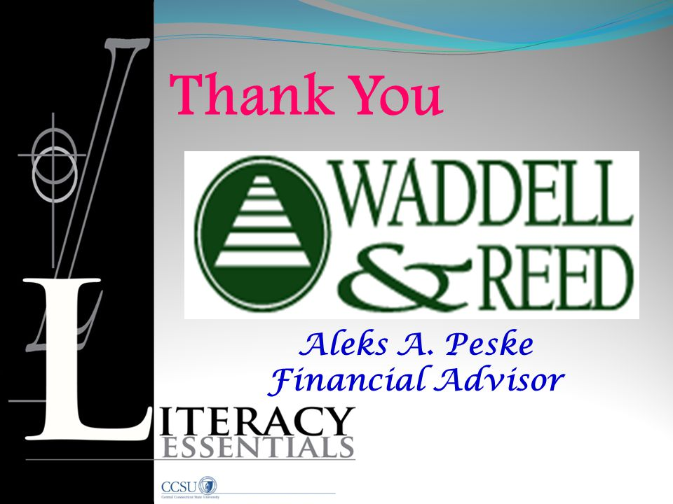 Thank You Aleks A. Peske Financial Advisor