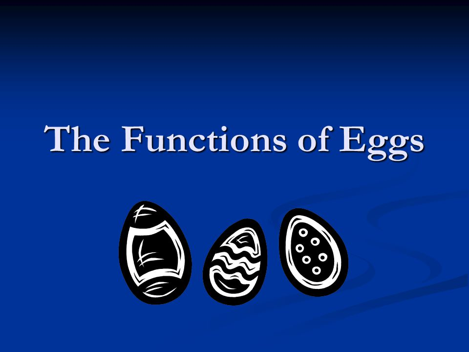 The Functions of Eggs