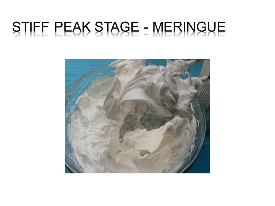 Stiff peak Stage - Meringue