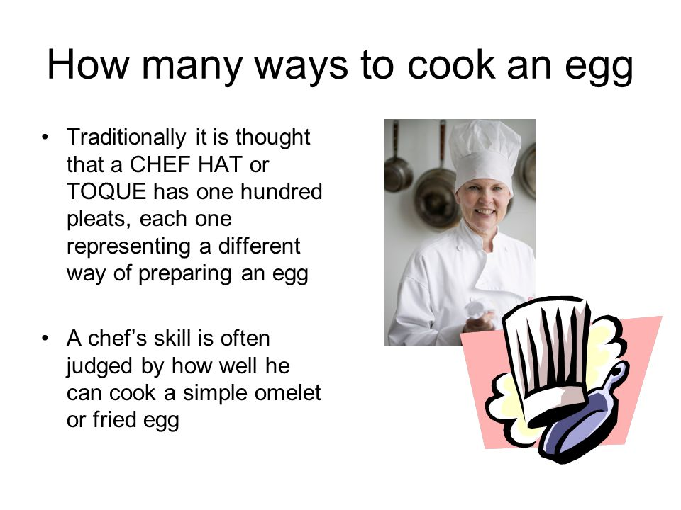 How many ways to cook an egg
