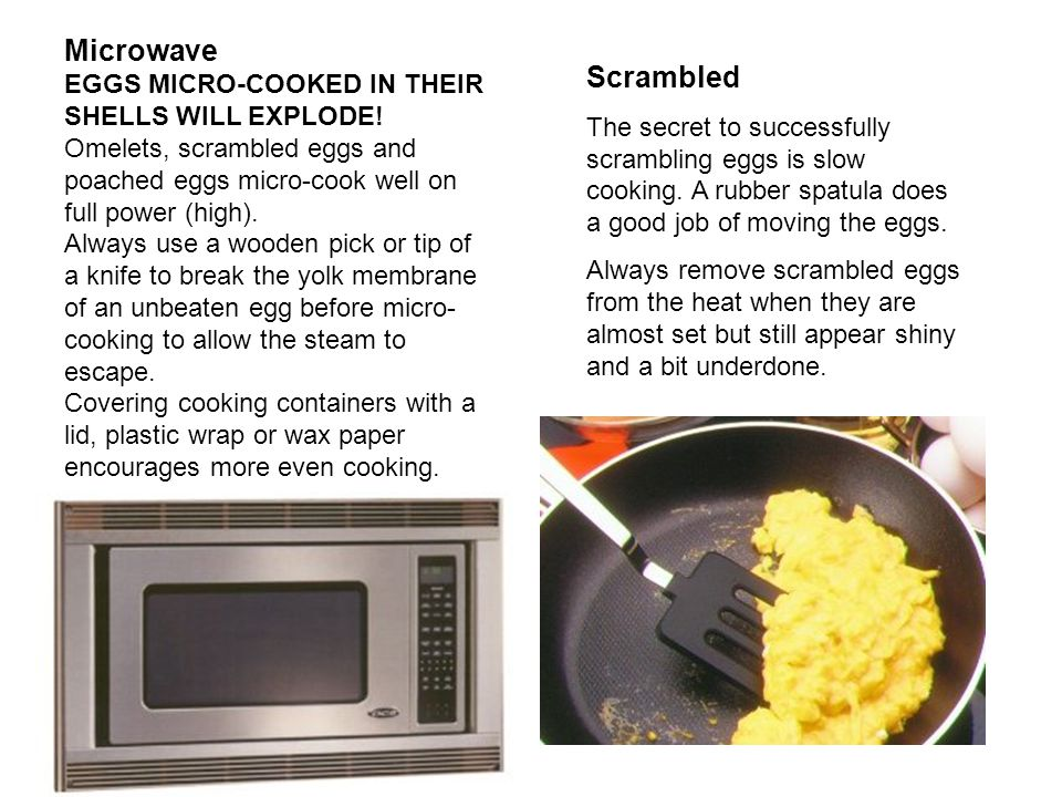 Microwave Scrambled EGGS MICRO-COOKED IN THEIR SHELLS WILL EXPLODE!