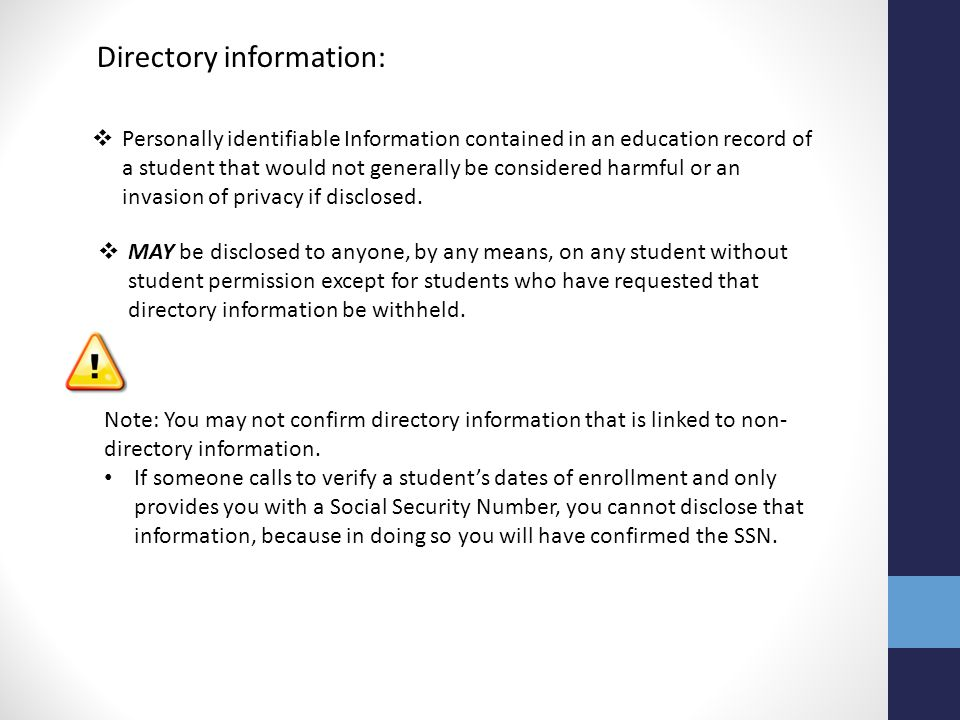 Directory information: