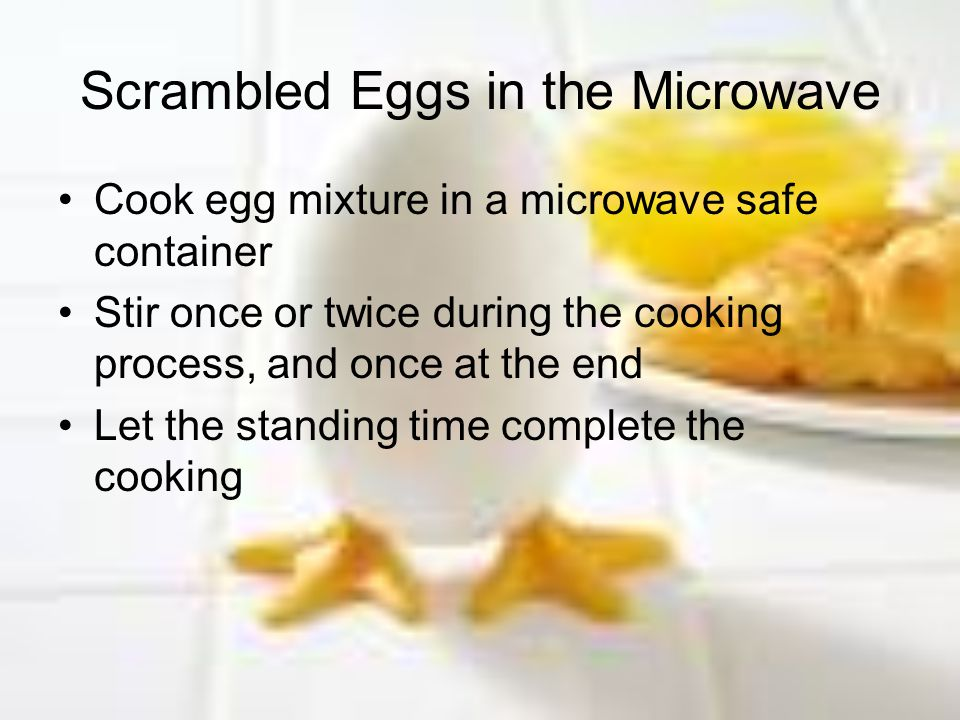 Scrambled Eggs in the Microwave