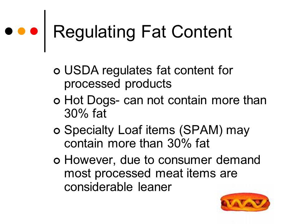 Regulating Fat Content