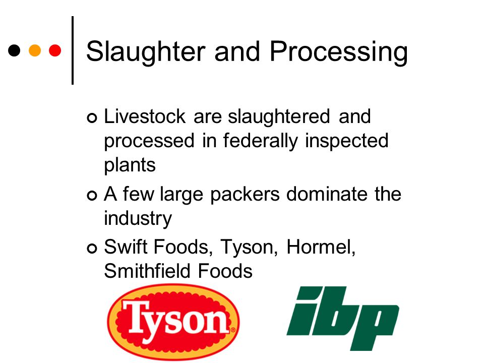 Slaughter and Processing