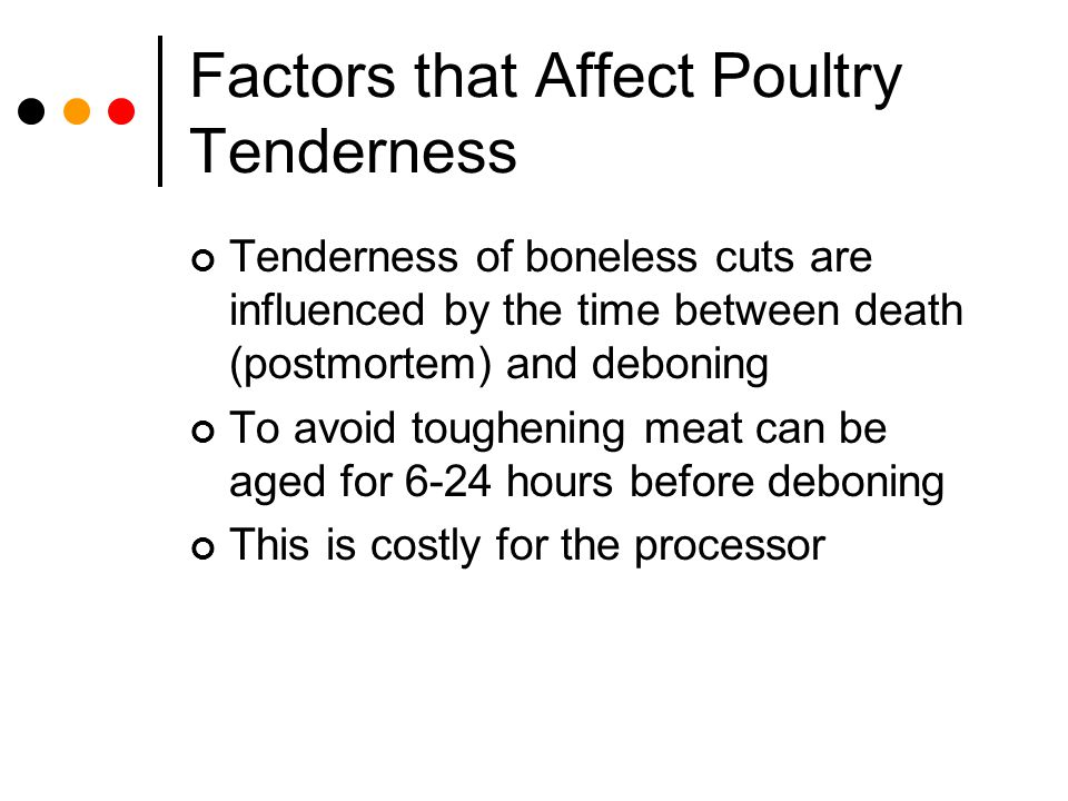 Factors that Affect Poultry Tenderness