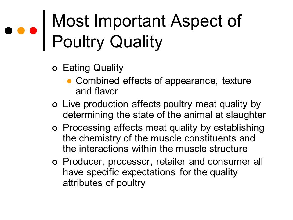 Most Important Aspect of Poultry Quality