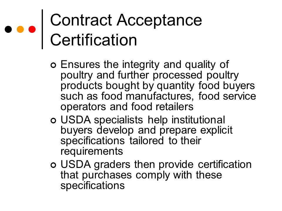 Contract Acceptance Certification
