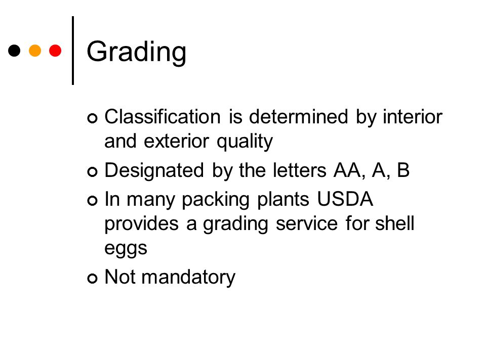 Grading Classification is determined by interior and exterior quality