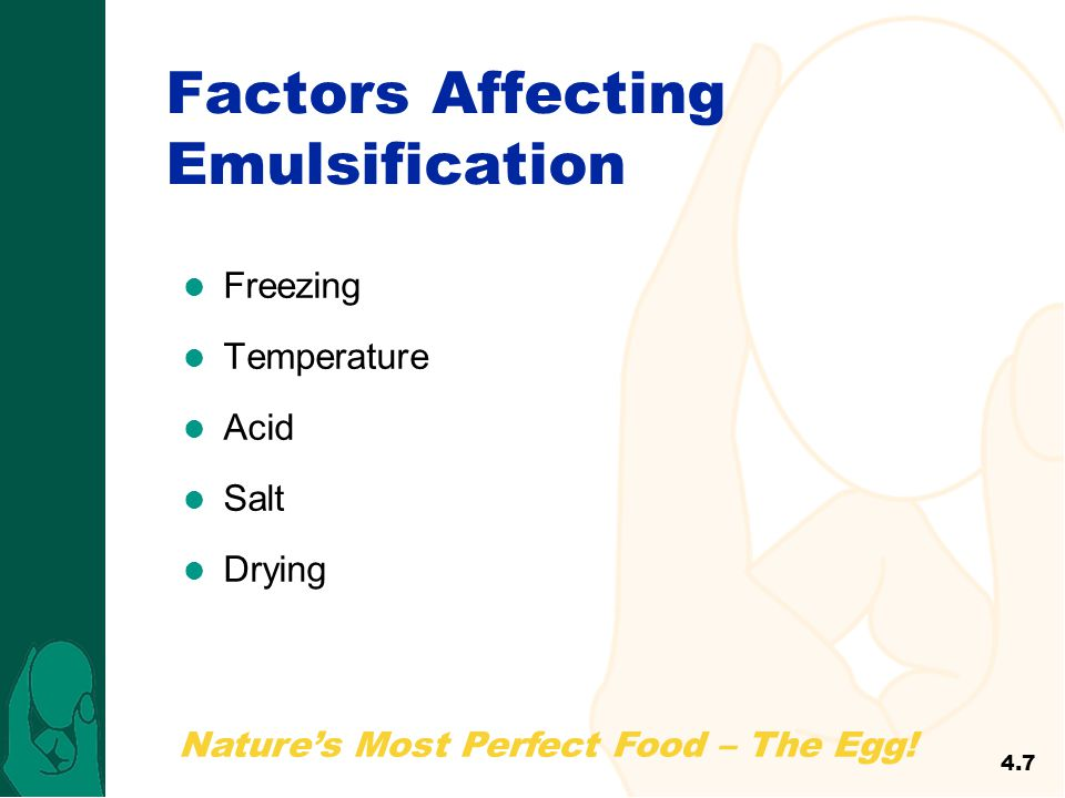 Factors Affecting Emulsification