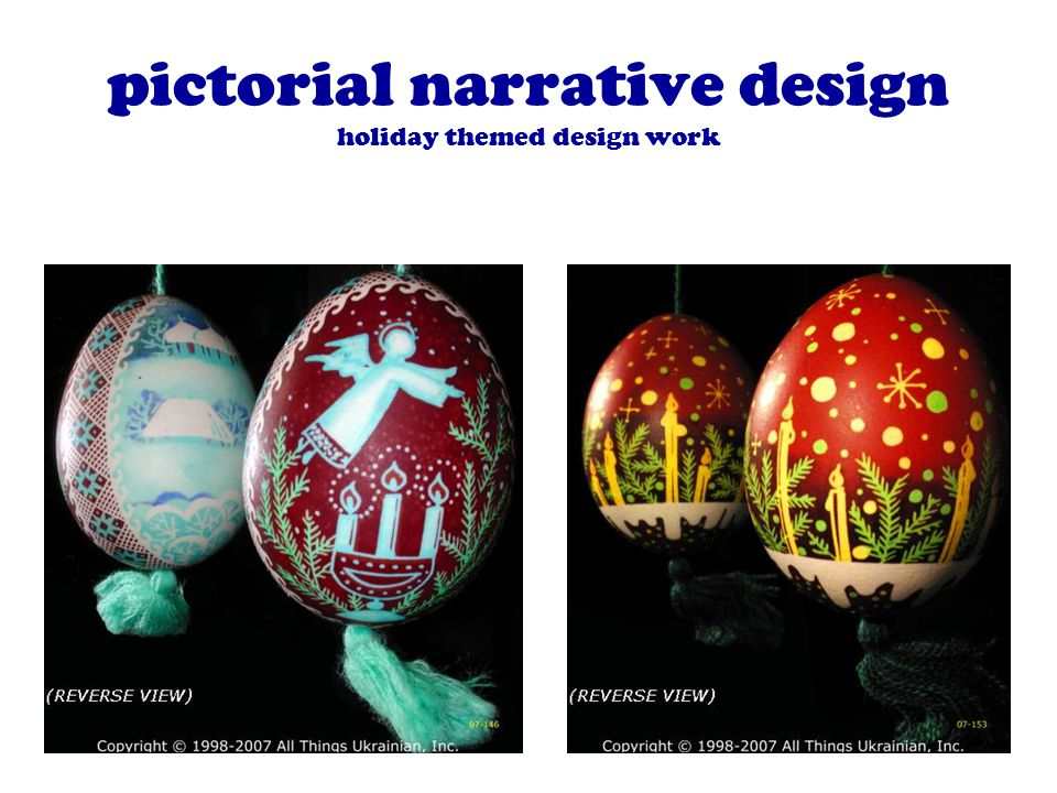 pictorial narrative design holiday themed design work