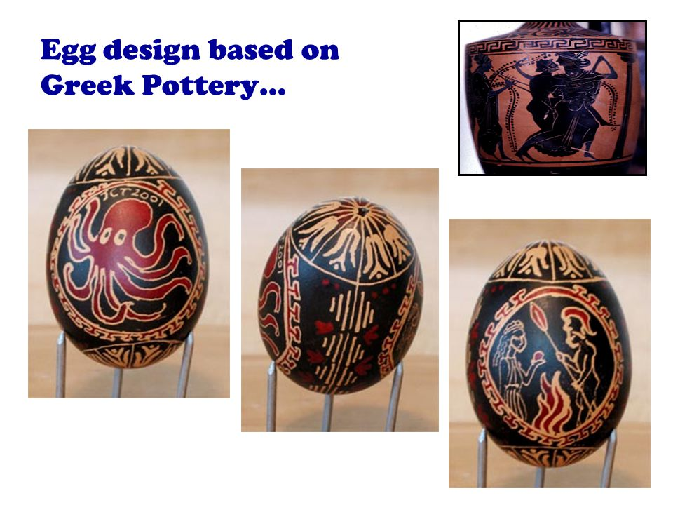 Egg design based on Greek Pottery…