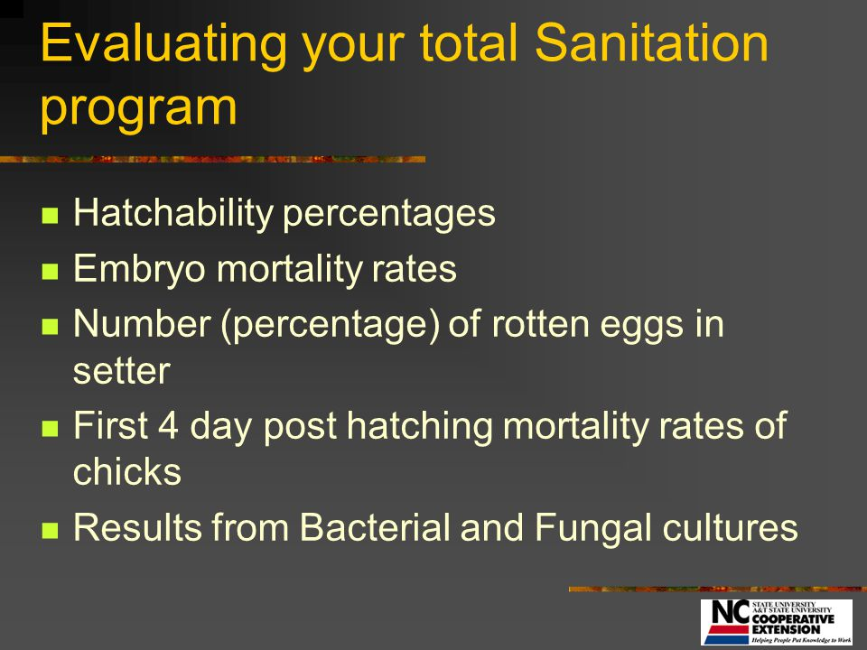 Evaluating your total Sanitation program