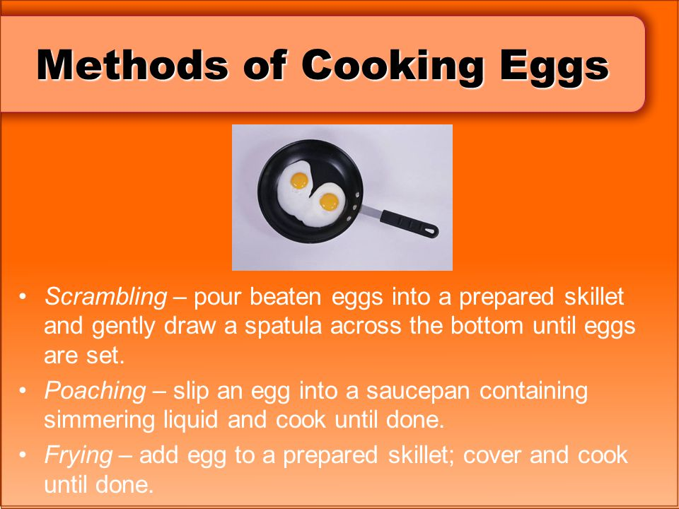 Methods of Cooking Eggs