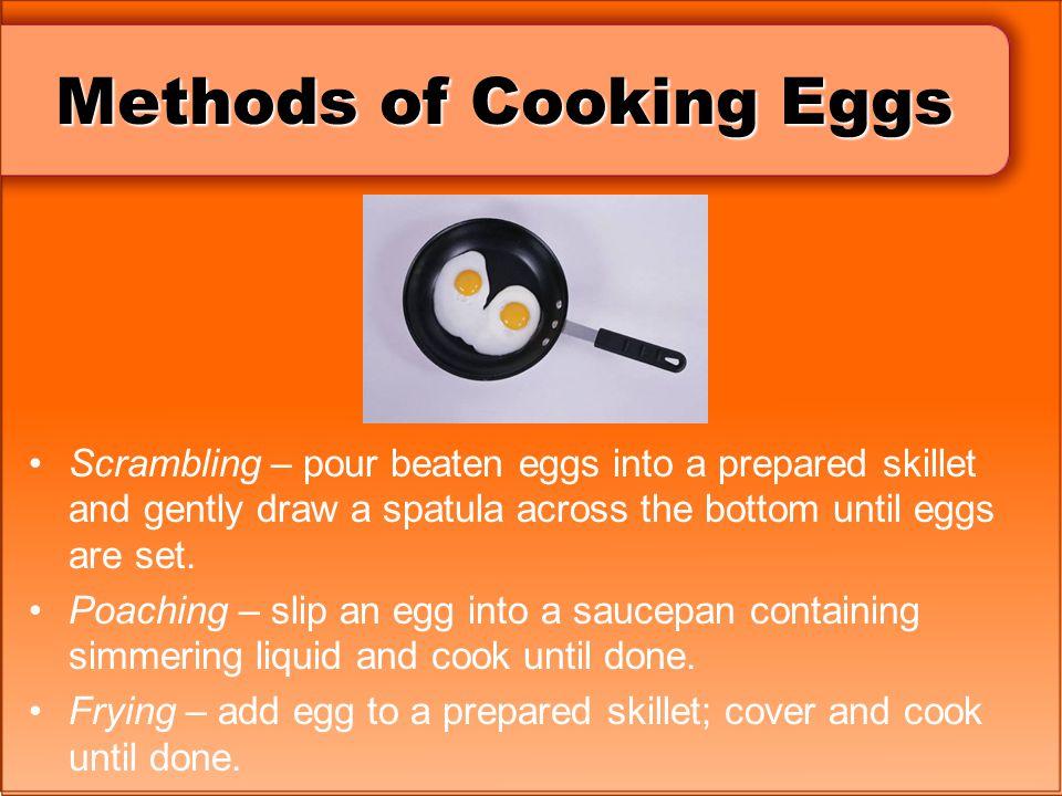 Methods of Cooking Eggs