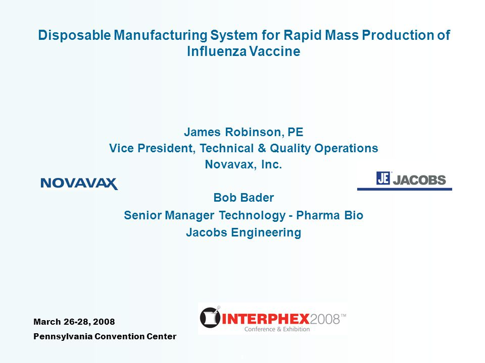 Disposable Manufacturing System for Rapid Mass Production of Influenza Vaccine