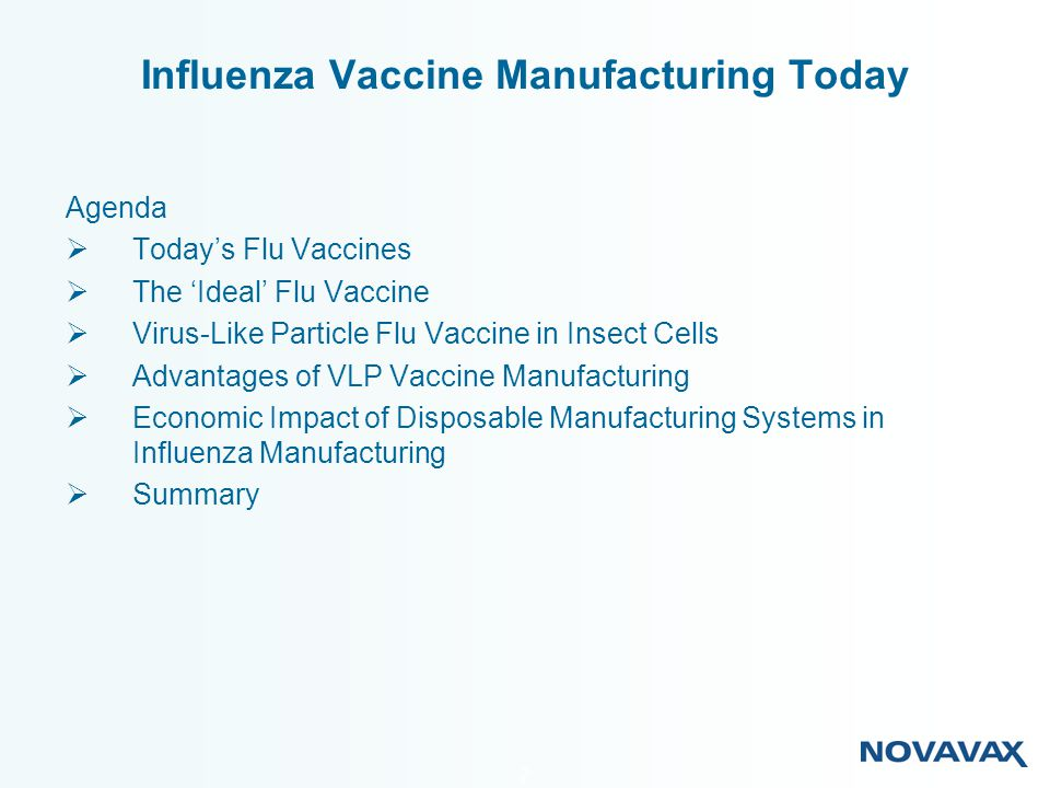 Influenza Vaccine Manufacturing Today