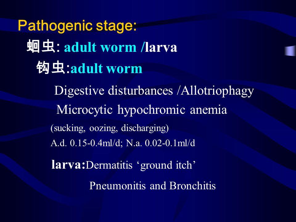 Digestive disturbances /Allotriophagy