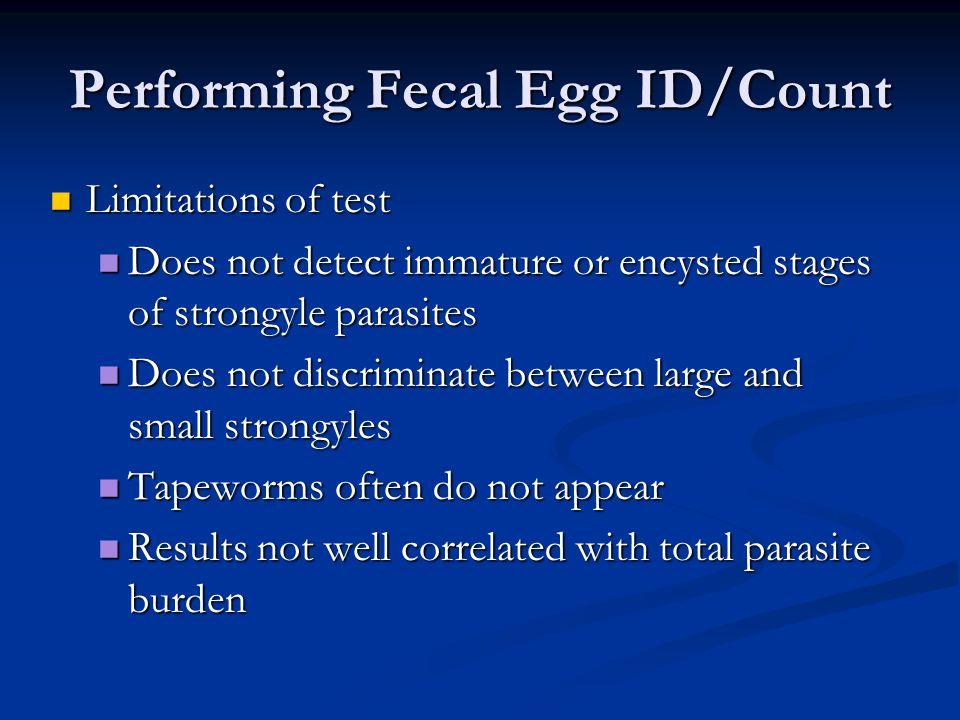 Performing Fecal Egg ID/Count